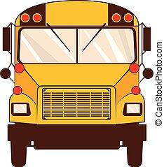 Yellow school bus - Flat style classic yellow school bus...
