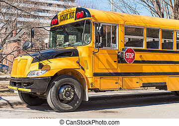Yellow school bus in America