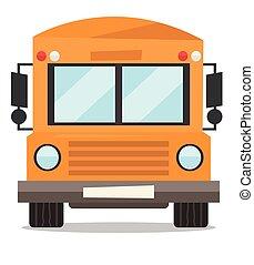 Yellow school bus vector illustration.