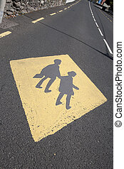 Yellow School Education Sign
