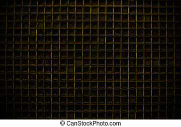 Yellow Screen door detail pattern background or texture