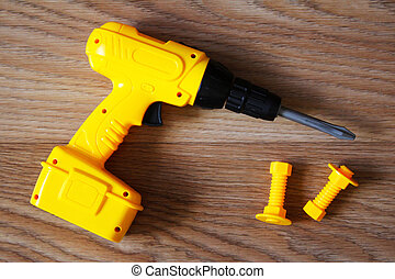 yellow screwdriver toy for boys