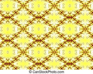 Yellow seamless fractal pattern