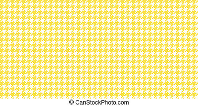 Yellow Seamless Houndstooth Pattern Background. Traditional Arab Texture. Fabric Textile Material.