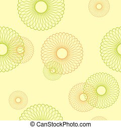 yellow seamless vector pattern with round elements