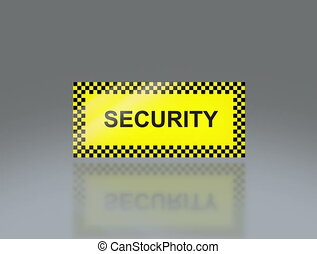 yellow Security signage 4K - the notice of traffic sign for...