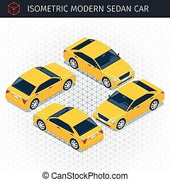 yellow sedan car
