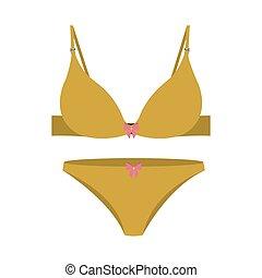 yellow set bikini with bow