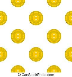 Yellow sewing button pattern flat