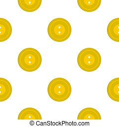 Yellow sewing button pattern flat
