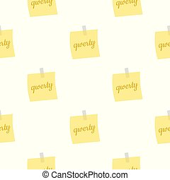 Yellow sheet of paper for notes pattern seamless