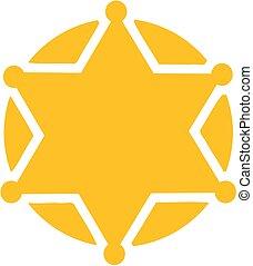 Yellow sheriff star