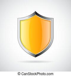 Yellow shield icon