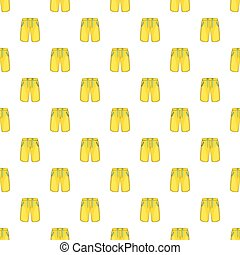 Yellow shorts for swimming pattern, cartoon style - Yellow...