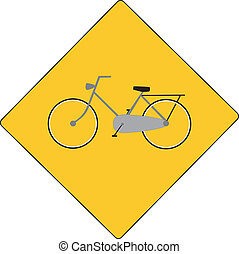 yellow sign no biking allowed