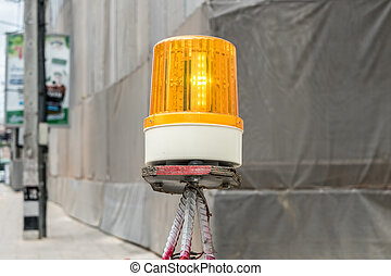 Yellow siren light