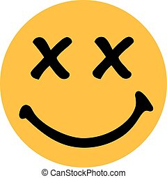 Yellow smiley with x-rated eyes