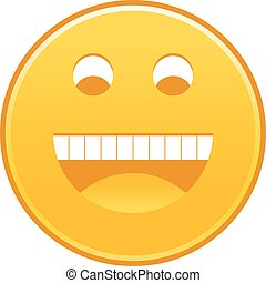 Yellow smiling face cheerful smiley happy emoticon