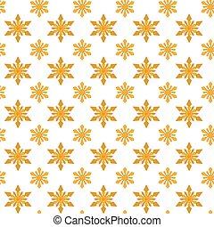 Yellow snowflakes for Christmas