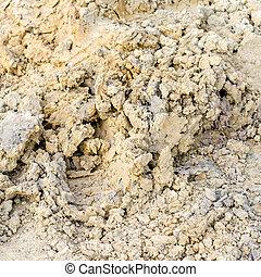 yellow soil texture background