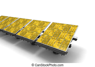 Yellow solar panels