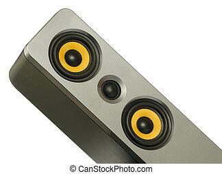 yellow speaker