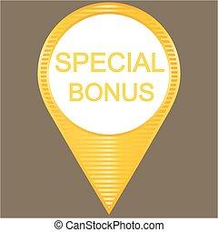 Yellow special bonus button
