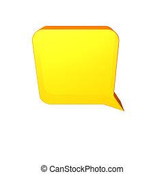 speech balloon - Yellow speech balloon