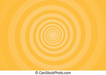 Yellow spiral background. Swirl, circular shape on yellow background