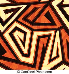 yellow spiral seamless pattern