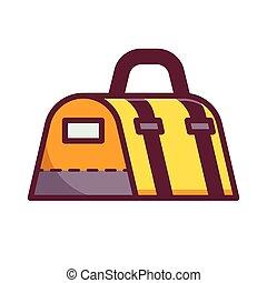 Yellow Sport Bag Icon