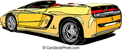 Yellow Sport Car