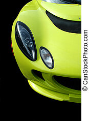 Yellow sports car front view