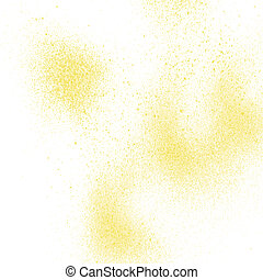 Yellow spray paint on white background