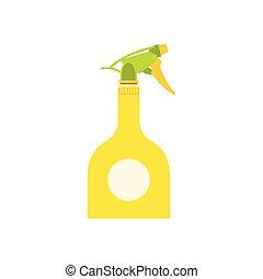 Yellow sprayer bottle