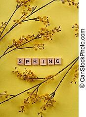 Yellow spring concept.