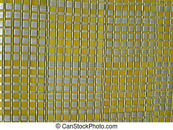 yellow square background texture closeup, textiled cloth