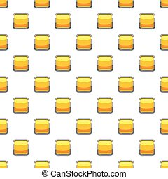 Yellow square button pattern