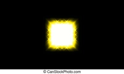 yellow square light and stars