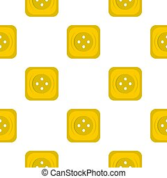 Yellow square sewing button pattern flat