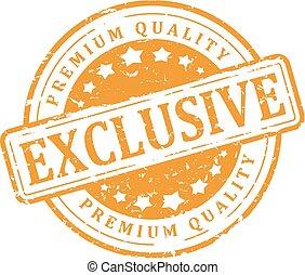Yellow stamp - exclusive, premium q