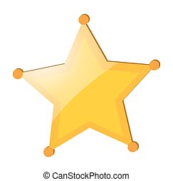 Yellow star badge on white background
