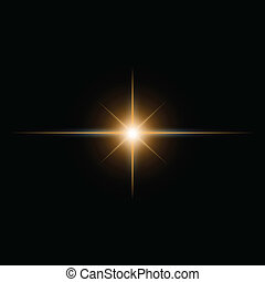yellow  Star burst  light beam vector