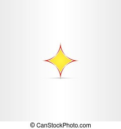 yellow star button abstract icon