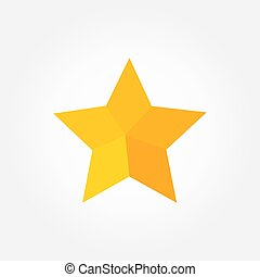 Yellow star flat design icon.