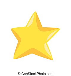 yellow star icon, colorful design