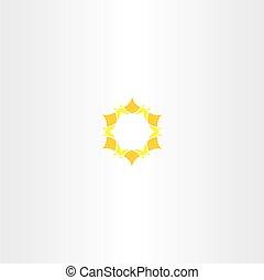yellow star icon sun logo