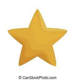 yellow star icon vector design