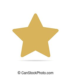 Yellow star icon. Vector illustration.