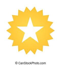 yellow star shape